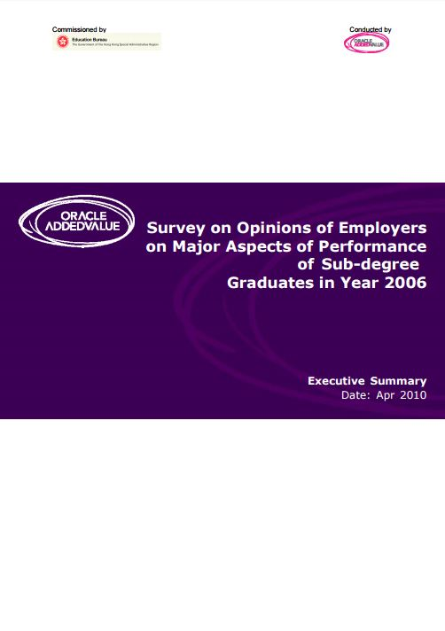 Survey on Opinions of Employers on Major Aspects of Performance of Sub-degree Graduates in Year 2006